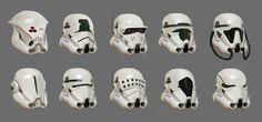 Stormtrooper's Helmet Designs, Hung Bui on ArtStation at https://www.artstation.com/artwork/stormtrooper-s-helmet-designs