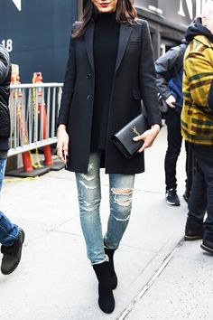 How to Wear a Blazer Like a Street Style Star - Go Long  - from InStyle.com