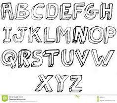 Block Letter Template Page Art Line Design  Letter