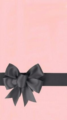 Pink and grey bow cell phone wallpaper