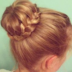 Gorgeous braided bun by @Jordan Bromley Moller