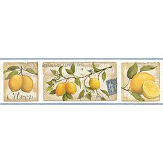 Buy Galerie Aquarius Lemons Kitchen Wallpaper Border Online at johnlewis.com