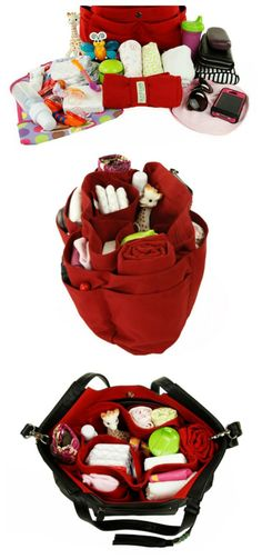 """the """"baby bag"""". ok. i am officially in love with this!! we all need this many pockets!! http://www.lily-jade.com/"""