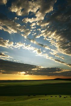 ranch sunset, South Dakota