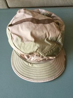 91105bebc40 Hats · Vintage Military Fatigue Hat Desert Tri-Color 7 5 8 1989  fashion