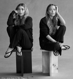 Mary-Kate & Ashley Olsen's Relationship Is Like a Marriage: 'We Have Had Ups & Downs': Photo Mary-Kate and Ashley Olsen are featured in WSJ. Magazine's new issue, speaking all about their brand The Row's new menswear line. Mary Kate Ashley, Mary Kate Olsen, Ashley Olsen Style, Olsen Twins Style, Business Portrait, The Row, Foto Fantasy, Twin Models, Olsen Sister