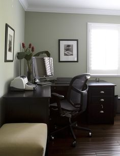 Benjamin Moore Grecian Green 507--Ava's room and the best unexpected green ever. So soothing in every light