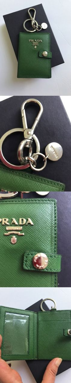 Key Chains Rings and Finders 45237: New Prada Milano Gold Black Heart Logo Key Chain Key Holder Ring W Box -> BUY IT NOW ONLY: $100 on eBay!