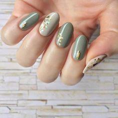Love the rounded tip! Rose Nails, Matte Nails, Pink Nails, Green Nail Designs, Cute Nail Designs, Japan Nail, Romantic Nails, Valentine Nail Art, Holographic Nails