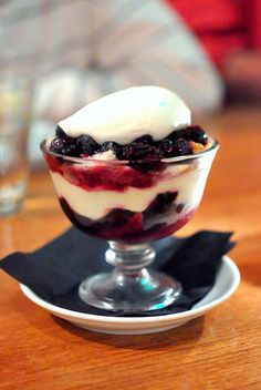 """""""Black and Blue Trifle"""" at Rustic Canyon"""
