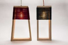 Yarn-Wrapped Lighting - The Nul and Nul 5 Lamps by K-O-N-T-O is Simple and Sculptural (GALLERY)