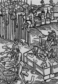 Vlad the Impaler (basis for Dracula)- early woodcut. He impaled more than men, women & children in Romania, sick little fuck Vlad Der Pfähler, Vlad El Empalador, Dracula, Vlad The Impaler, Woodcut Art, Vampire Art, Art Graphique, Medieval Art, Dark Ages