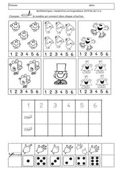 : The New Casseroles Maternelle Grande Section, Mr Men Little Miss, Vintage Coloring Books, Monsieur Madame, French Kids, French Resources, School Games, Preschool Math, Math For Kids