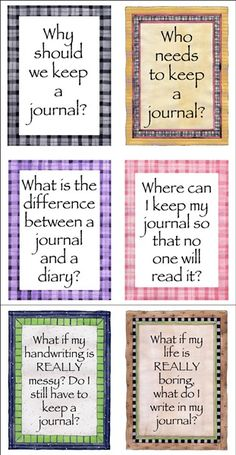 What is a journal questions