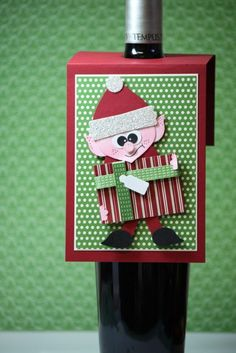 Elf Wine Tag - Alisa Tilsner