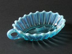 Davidson Glass Blue | Davidson Pressed Glass Blue Pearline One Handled Nappy Dish 1889 ...