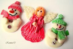 Z zimnej porcelany . lub jak kto woli z masy porcelanowej Christmas Crafts, Christmas Ornaments, Interior Design Living Room, Decoupage, Holiday Decor, Blog, Home Decor, Budget, Design Ideas