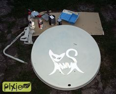 Old Satellite Dishes Into Bird Baths You Can Use Broken