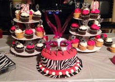Zebra Cake inside.