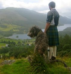 Irish Wolfhound Club of Scotland~UK. I would love to have an Irish Wolf hound. Wouldn't mind the strapping lad in the kilt either. Scottish Deerhound, Scottish Highlands, Irish Wolfhounds, Scottish Kilts, Highlands Scotland, Outlander, Irish Proverbs, Amor Animal, Men In Kilts