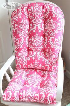 Custom Chair Cushions/ Glider Cushions/ by MissPollysPieceGoods