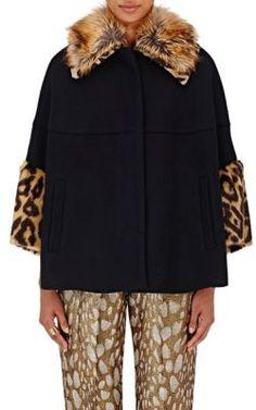 DRIES VAN NOTEN Vainier Faux-Fur-Trimmed Jacket. #driesvannoten #cloth #jacket