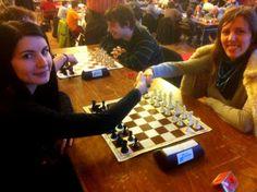Le combat final entre les deux grands-maîtres féminins. L'Ukrainienne Tatiana Kostiuk avec les Blancs face à la Moldave Elena Partac avec les Noirs - Photo © Chess & Strategy