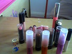 all my lipstick #webcamtoy