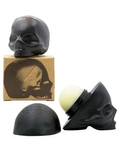 Skull Lip Balm by Rebels Refinery (Black) InkedShop. This is so awesome! I want one!