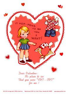 (⑅ ॣ•͈ᴗ•͈ ॣ)♡                                                             ✄Printable Paper Doll Valentine