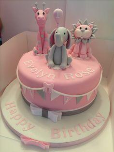 1st Birthday Cake Animal themed