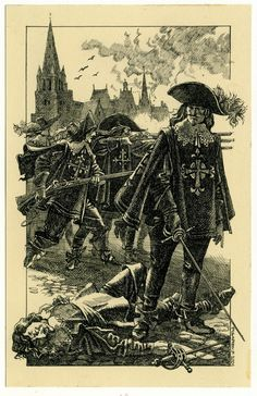 The Three Musketeers, Twenty Years After, Illustrated by Roman Pisarev. Luis Xiv, Thirty Years' War, The Three Musketeers, Modern Warfare, Book Illustration, Caricature, Book Design, Line Art, Illustrators