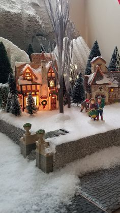 Christmas Village Decorations, Christmas Tree Village, Christmas Town, Christmas Scenes, Christmas Villages, Christmas Centerpieces, Xmas, Merry Christmas To All, Christmas Movies