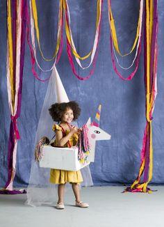 Disfraces infantiles para Carnavales con cajas de cartón
