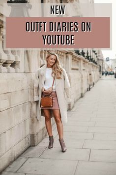 A new outfit diaries has started on youtube showcasing what I REALLY wear each week! Last week my favourite was this pink corduroy skirt with a cosy teddy bear topshop coat! Fashion Mumblr, Autumn Fashion, Fashion Outfits, Fashion Trends, Office Outfits, New Outfits, Winter Outfits, Mini Skirt Outfit Winter, Expensive Clothes