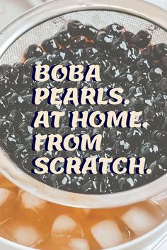 Make tapioca pearls or boba pearls from scratch right at home. All you need is 3 ingredients and 1 hour. Tap inside to make tapioca pearls from scratch! Boba Pearls, Tapioca Pearls, 3 Ingredients, How To Make, Recipes, Food, Eten, Recipies, Ripped Recipes