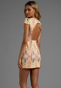 FINDERS KEEPERS Dream People Dress in Fluro Ikat/Orange Fizz