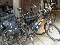 Chicago Police Department bicycles  North Michigan Ave.  Chicago USA     #Handcuffs
