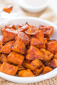This Thanksgiving, try the honey-roasted sweet potatoes with honey cinnamon dip, you'll want to turn it into your entire meal.
