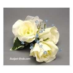 Corsages for mother of bride, mother of groom, attendants, bridesmaids and brides found on Polyvore
