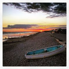 Sunset beach East Wittering by Lizzie Reakes