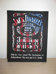Jack Daniels inspired Logo & American Flag with by PaintedGator, $35.00