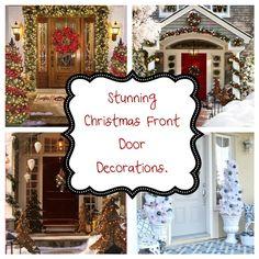 DIY Ideas - Home and Garden by Maria: Ιδέες Για Εντυπωσιακή Χριστουγεννιάτικη Διακόσμηση Εισόδου. Christmas Front Doors, Front Door Decor, Blog, Diy, Bricolage, Blogging, Do It Yourself, Homemade, Entryway Decor