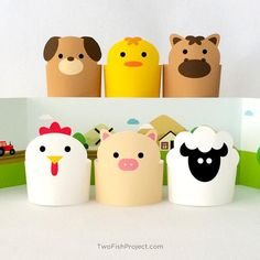 Paper toy, diy kids toys, paper animals, creative toys for kids, animal pri Creative Toys For Kids, Creative Crafts, Diy For Kids, Paper Puppets, Paper Toys, Easy Diy Crafts, Fun Crafts, Diy Toys, Toy Diy