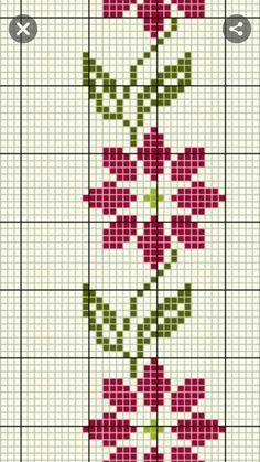 Cross Stitch Bookmarks, Cross Stitch Borders, Cross Stitch Rose, Cross Stitch Baby, Cross Stitch Flowers, Cross Stitch Designs, Cross Stitching, Cross Stitch Embroidery, Cross Stitch Patterns