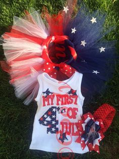 My First 4th of July Tutu Set on Etsy, $40.00