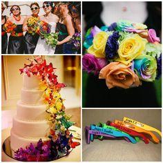 Rainbow Hochzeitsideen Bunte und Trendige Hochzeit 2014 hochzeitskleid Hochzeitstorte Schmetterling Rainbow Hochzeitsideen   Bunte und Trendige Hochzeit 2014