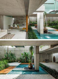 Residence in São Paulo. Architects: Angelo Bucci - SPBR Landscape design: Raul Pereira