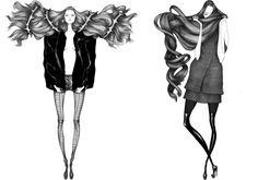 Laura Laine黑白时尚插画-动漫百科-中文百科在线