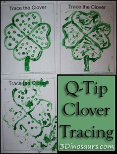 Q-Tip Clover Tracing